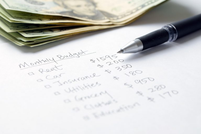 Monthly budget planning